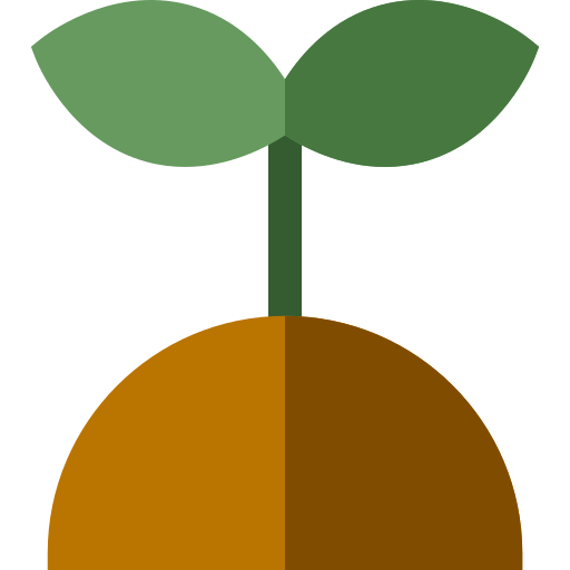 Plant in compost icon